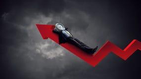 Hombre de negocios dirigido reloj Concepto de la eficacia del negocio imagen de archivo