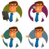 Hombre de negocios divertido de la historieta Imagenes de archivo