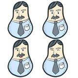 Hombre de negocios divertido, vector Imagenes de archivo