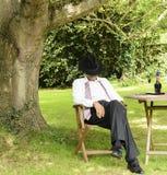 Hombre de negocios dormido foto de archivo