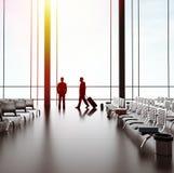 Hombre de negocios dos en aeropuerto foto de archivo