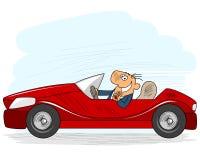 Hombre de negocios Driving Car stock de ilustración