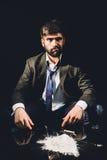 Hombre de negocios drogado Fotografía de archivo libre de regalías