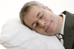 Hombre de negocios durmiente Imagen de archivo libre de regalías
