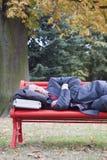 Hombre de negocios durmiente Imágenes de archivo libres de regalías
