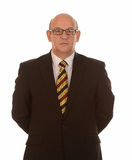 Hombre de negocios elegante con los vidrios Imagenes de archivo