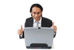 Hombre de negocios emocionado Imagen de archivo