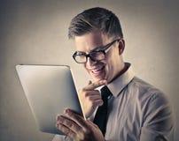 Hombre de negocios emocionado Fotos de archivo