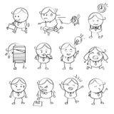 Hombre de negocios Emotion Illustrations Fotos de archivo libres de regalías