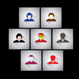 Hombre de negocios, empleados y ejecutivos - iconos planos del vector del diseño Imágenes de archivo libres de regalías