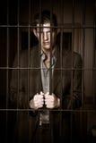 Hombre de negocios en cárcel Fotos de archivo libres de regalías