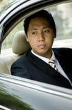 Hombre de negocios en coche fotografía de archivo