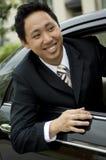 Hombre de negocios en coche fotografía de archivo libre de regalías
