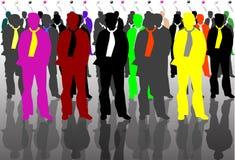 Hombre de negocios en color Foto de archivo