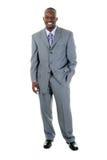 Hombre de negocios en el juego gris 1 foto de archivo
