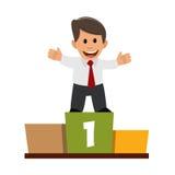 Hombre de negocios en el podio ilustración del vector