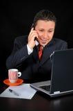 Hombre de negocios en el teléfono Imagen de archivo libre de regalías