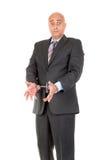 Hombre de negocios en esposas fotos de archivo