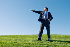 Hombre de negocios en juego foto de archivo libre de regalías