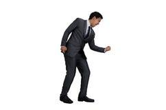 Hombre de negocios en la acción del éxito Fotografía de archivo