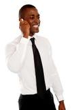 Hombre de negocios en la conversación con su cliente Fotos de archivo libres de regalías