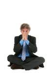 Hombre de negocios en la meditación Fotografía de archivo