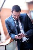 Hombre de negocios en la oficina Imagenes de archivo