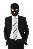Hombre de negocios en máscara Foto de archivo libre de regalías
