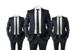 Hombre de negocios en negro Imagen de archivo libre de regalías