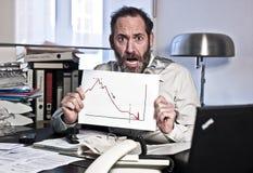 Hombre de negocios en pánico imágenes de archivo libres de regalías