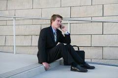 Hombre de negocios en rotura Imagenes de archivo