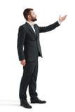 Hombre de negocios en señalar del desgaste formal Foto de archivo