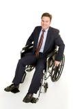 Hombre de negocios en sillón de ruedas Imagen de archivo libre de regalías