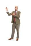 Hombre de negocios en un fondo blanco Fotos de archivo