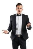 Hombre de negocios en un juego Imágenes de archivo libres de regalías