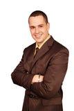 Hombre de negocios en un traje Imagen de archivo libre de regalías