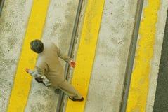 Hombre de negocios en una prisa fotografía de archivo libre de regalías