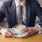 Hombre de negocios en una reunión Imagenes de archivo