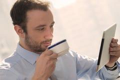 Hombre de negocios en una rotura Fotos de archivo