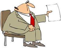 Hombre de negocios en una silla Foto de archivo libre de regalías