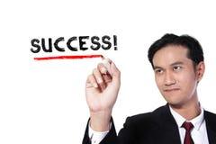 Hombre de negocios en éxito Imagen de archivo
