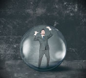 Hombre de negocios encerrado Imagen de archivo