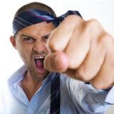 Hombre de negocios enojado imágenes de archivo libres de regalías