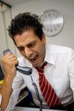 Hombre de negocios enojado Fotos de archivo