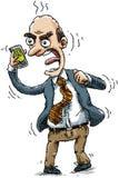 Hombre de negocios enojado libre illustration