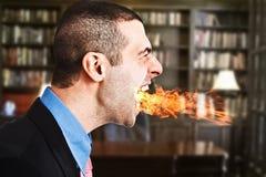 Hombre de negocios enojado Imagen de archivo libre de regalías