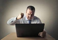 Hombre de negocios enojado fotografía de archivo