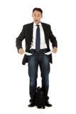 Hombre de negocios envejecido medio, bolsillos foto de archivo libre de regalías