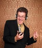 Hombre de negocios envejecido medio de baile Imágenes de archivo libres de regalías