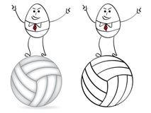 Hombre de negocios equilibrado en una bola libre illustration